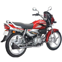 Hero Honda Splendor Super Rear Cross Side View