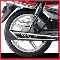 Hero Honda Splendor Super Silencer View