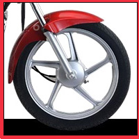 Hero Honda Splendor Super wheels and tyre view Picture