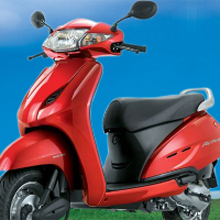 Honda Activa Front Cross Side View