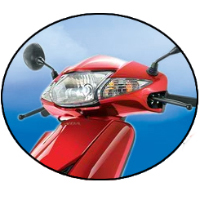 Honda Activa Head Light View