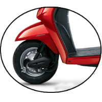 Honda Activa Wheels And Tyre View