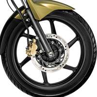 Honda CB Dazzler Wheels And Tyre View