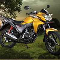 Honda CB Twister Front Cross Side View