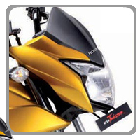 Honda CB Twister Head Light View