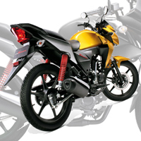 Honda CB Twister Rear Cross Side View