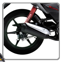 Honda CB Twister Silencer View