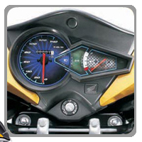 Honda CB Twister Speedometer View