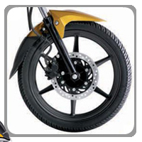 Honda CB Twister wheels and tyre view Picture