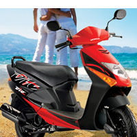 Honda Dio Front Cross Side View