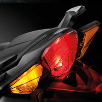 Honda VFR1200F Back Light View