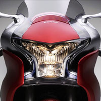 Honda VFR1200F Head Light View