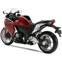 Honda VFR1200F Rear Cross Side View