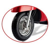 Indus Yo EXL wheels and tyre view Picture