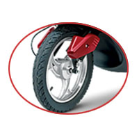 Indus Yo Smart wheels and tyre view Picture