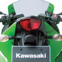 Kawasaki Ninja 250R Back Light View
