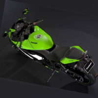 Kawasaki Ninja 250R Rear Cross Side View