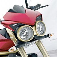 Mahindra MOJO Head Light View
