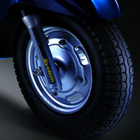 Mahindra Rodeo wheels and tyre view Picture