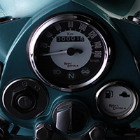 Royal Enfield Bullet Classic Speedometer View