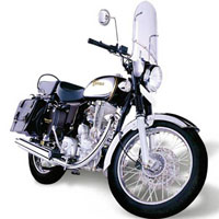 Royal Enfield Bullet Machismo 500 Front Cross Side View