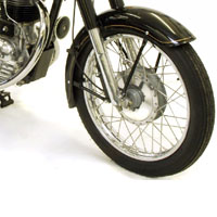 Royal Enfield Bullet350 Disk Brake And Wheels View