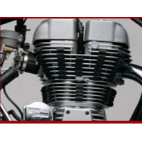 Royal Enfield Thunderbird TwinSpark engine view Picture