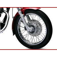Royal Enfield Thunderbird TwinSpark wheels and tyre view Picture