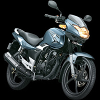 Suzuki GS150R Front Cross Side View