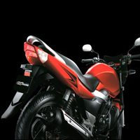 Suzuki GS150R Rear Cross Side View