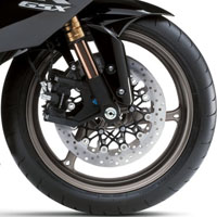 Suzuki GSX-R1000 wheels and tyre view Picture