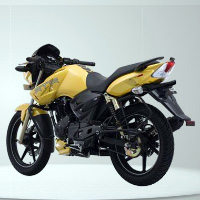 TVS Apache RTR 160 Rear Cross Side View
