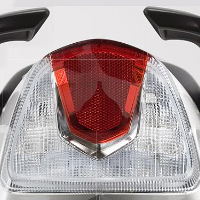 TVS Apache RTR 180 Back Light View