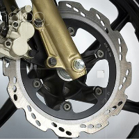 TVS Apache RTR 180 disk brake view Picture