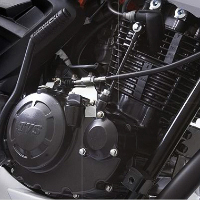 TVS Apache RTR 180 Engine View