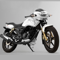 TVS Apache RTR 180 Front Cross Side View