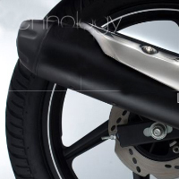 TVS Apache RTR 180 Silencer View