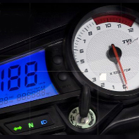 TVS Apache RTR 180 speedometer view Picture