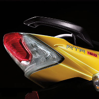 TVS Apache RTR160 Kick Start Back Light View