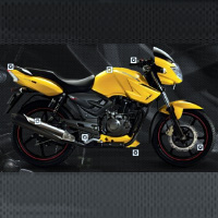 TVS Apache RTR160 Kick Start Different Colour View 1