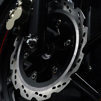 TVS Apache RTR160 Kick Start Disk Brake View