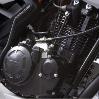 TVS Apache RTR160 Kick Start Engine View