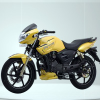 TVS Apache RTR160 Kick Start Front Cross Side View