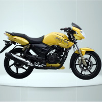 TVS Apache RTR160 Kick Start Right View