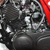 TVS Max 4R Engine View