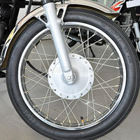 TVS Max 4R Wheels And Tyre View