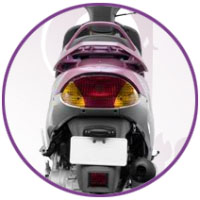 TVS Scooty Pep+ Back Light View