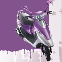 TVS Scooty Pep+ Different Colour View 2