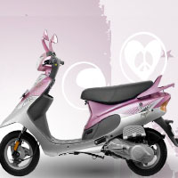TVS Scooty Pep+ Left View