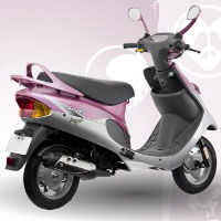 TVS Scooty Pep+ Rear Cross Side View